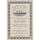 Titanic replica movie prop Third Class ticket
