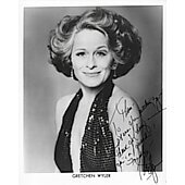 Gretchen Wyler (Signature personalized to Thom)