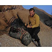 William Shatner and Bobby Clark Star Trek TOS 8X10 #2