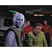 William Shatner and William O'Connell Star Trek TOS 8X10