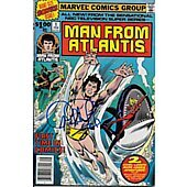 Man From Atlantis comic book signed by Patrick Duffy