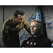 William Shatner and Sean Kenney Star Trek TOS 8X10
