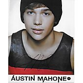 Austin Mahone In Person Autographed 8x10 Singer MTV