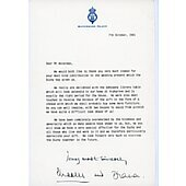 Princess Diana and Prince Charles Signed Letter PSA/DNA