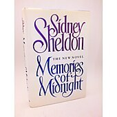 Memories of Midnight BOOK - Signed by author Sidney Sheldon (signature personalized to Sylvia)