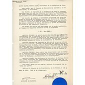 Fidel Castro signed Document 1959 PSA/DNA