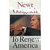 To Renew America BOOK - Signed by author Newt Gingrich