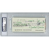 Greta Garbo autographed Check PSA/DNA Certified