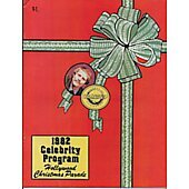Hollywood Christmas Parade 1982 Celebrity Program