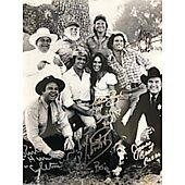Dukes of Hazzard cast of 5 w/ Ed Richard COA 11X14 #2