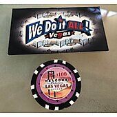 Welcome to Fabulous Las Vegas $100 poker chip