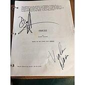 Fences original leather bound script autographed by Denzel Washington and Voila Davis
