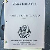 """Crazy Like A Fox """"Murder Is A Two Stroke Penalty"""" Original  Script"""