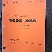 "Irwin Allens Code Red ""Wildfire"" Original Script"
