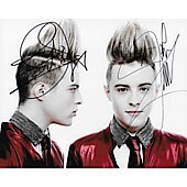 Jedward  Autographed 8x10 Irish singing and TV presenting duo