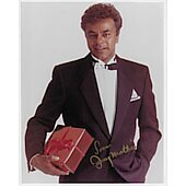 Johnny Mathis In Person Autographed 8x10 Singer over 360 million Records Sold