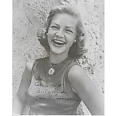Lauren Bacall Vintage 8X10 photo (personalized to Eddie Wright)