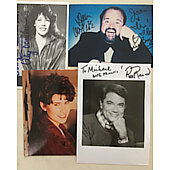 Lot of 4 Original Autograph photos including Lily Tomlin, Rex Reed Nancy Mckeon,Dom Deluise