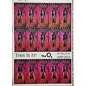 MICHAEL JACKSON Original Lenticular Uncut Sheet THIS IS IT UK concert tickets # 1