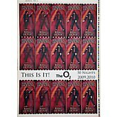 MICHAEL JACKSON Rare uncut sheet of THIS IS IT UK concert tickets VERSION 4