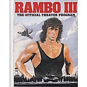 Rambo III 1988 original movie program