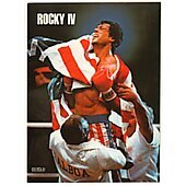 Rocky IV 1985 original movie program