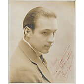 Rudolph Valentino Vintage 8X10 photo (personalized to Harold)