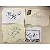 Lot of 6 Original Signed items Patricia Neal,Glenn Close,Ann Blyth,Mitzi Gaynor,Sally Kirkland,Constance Towers