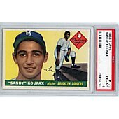1955 TOPPS #123 SANDY KOUFAX RC ROOKIE PSA 6 EX-MT