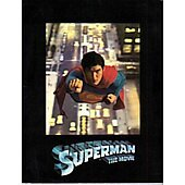 Superman 1978 original movie program