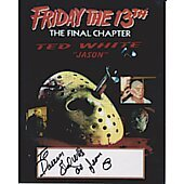 Ted White Friday the 13th (Signature personalized to Darren)