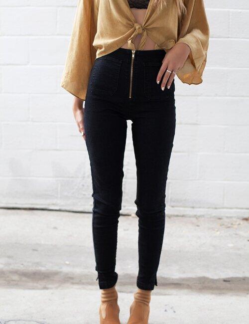 Walk This Way Black Skinny Jeans