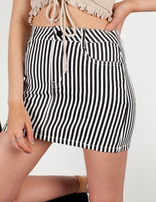 Follow Me Striped Skirt
