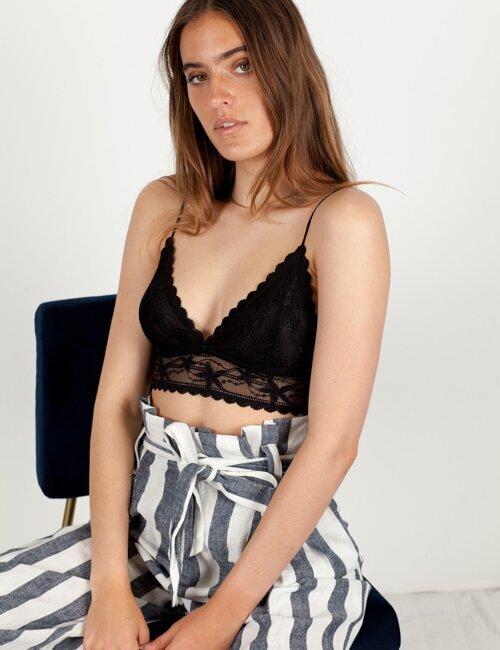 Vanessa Black Lace Bralette