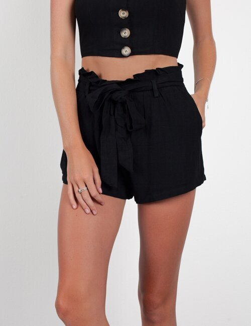 Summer Games Black Tie Shorts