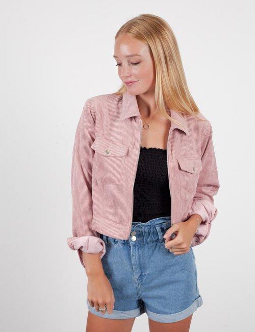 Everybody Talks Pink Corduroy Jacket