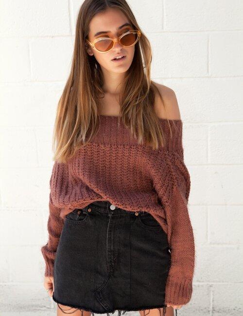 Double Shot Rust Sweater