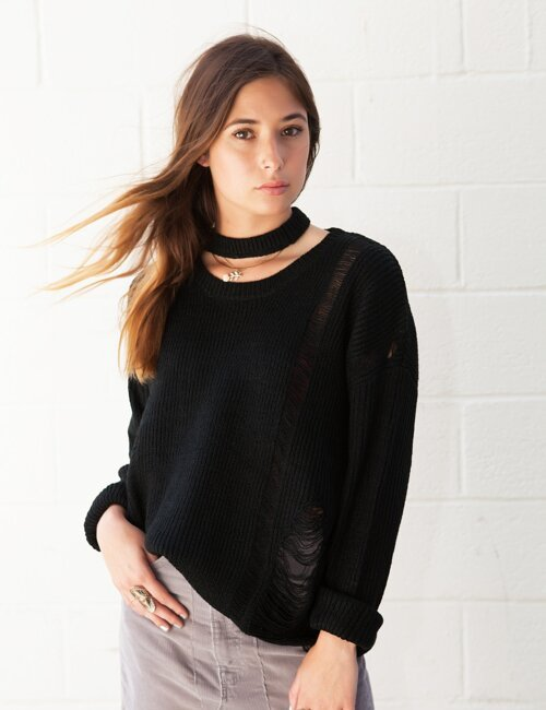 Kyla Black Knit Sweater