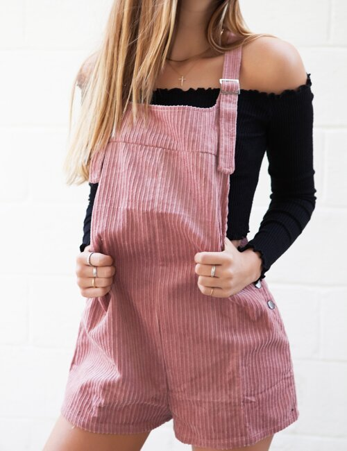 Emma Pink Corduroy Overalls