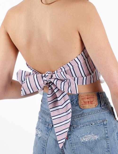 All My Love Pink Stripe Bandana Top