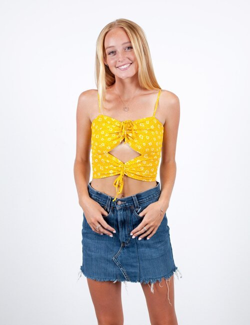 Let the Sunshine Yellow Top