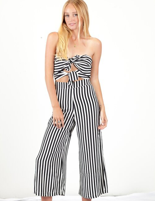 Yours Truly Stripe Jumpsuit