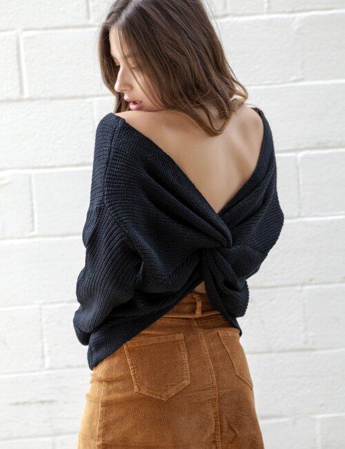 Pretty Please Black Sweater