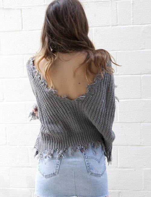 November Grey Sweater