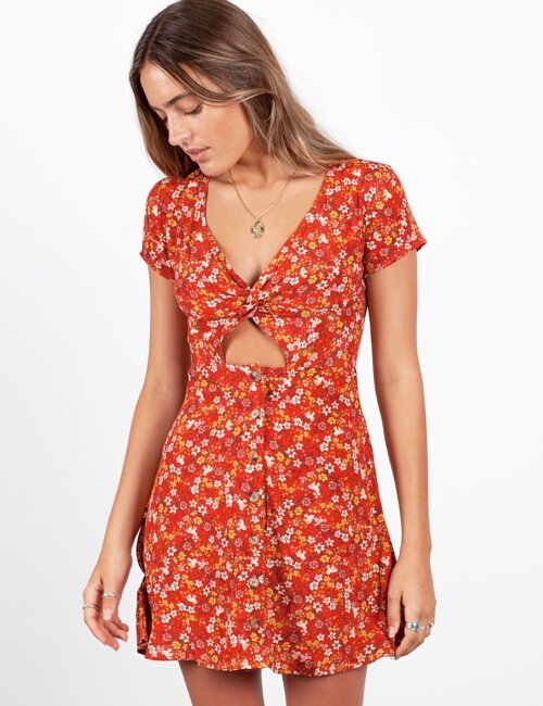 Twist and Shout Floral Dress