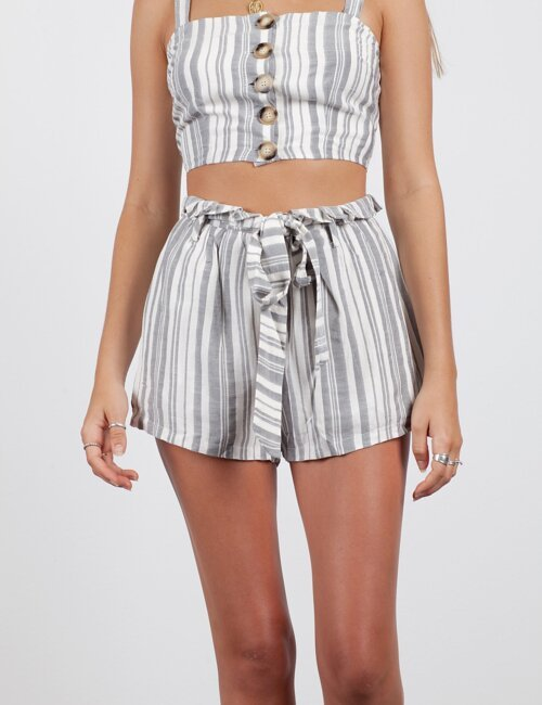 Summer Games Grey Stripe Shorts