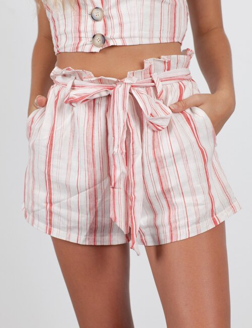 Summer Games Pink Stripe Shorts