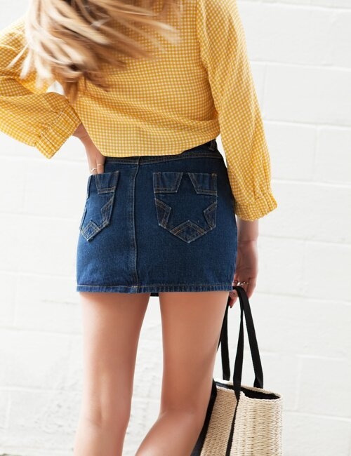 Friday Denim Star Skirt