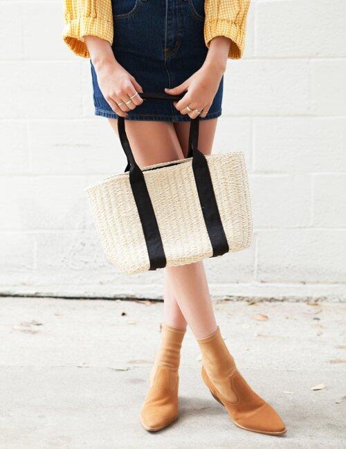 Hudson Straw Woven Bag