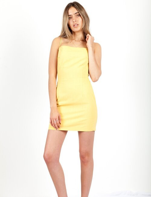 Vacay Romance Yellow Dress